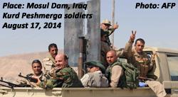 Peshmerga soldiers at Mosul Dam, Iraq