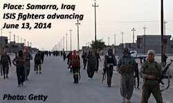 ISIS fighters in Samarra, Iraq