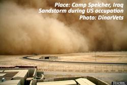 Camp Speicher, Iraq, sandstorm