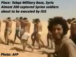 ISIS marches captured Syria soldiers to their death