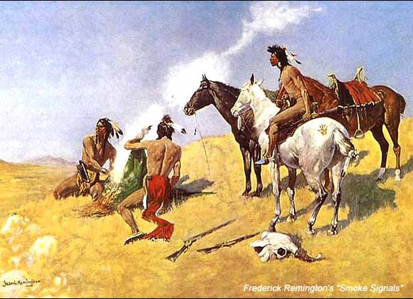 """Smoke Signals"" by Frederick Remington"