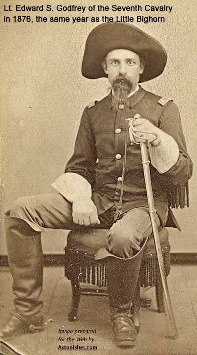 Lt. Edward S. Godfrey by D.F. Barry in 1876, the same year as the Battle of the Little Bighorn