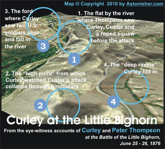 Curley at the Little Bighorn Map