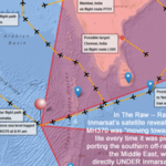 Mayalasia Airlines Flight MH370 map
