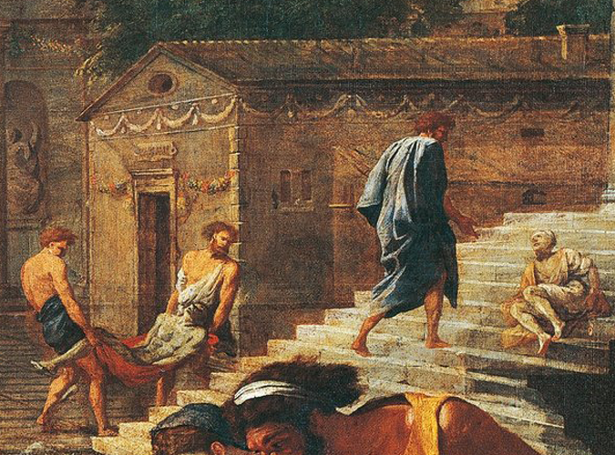 Biblical plague scene