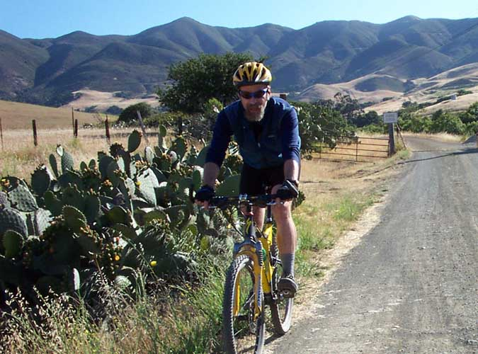At play in harm's way, Bruce Brown riding San Luis Obispo, CA, August 2002